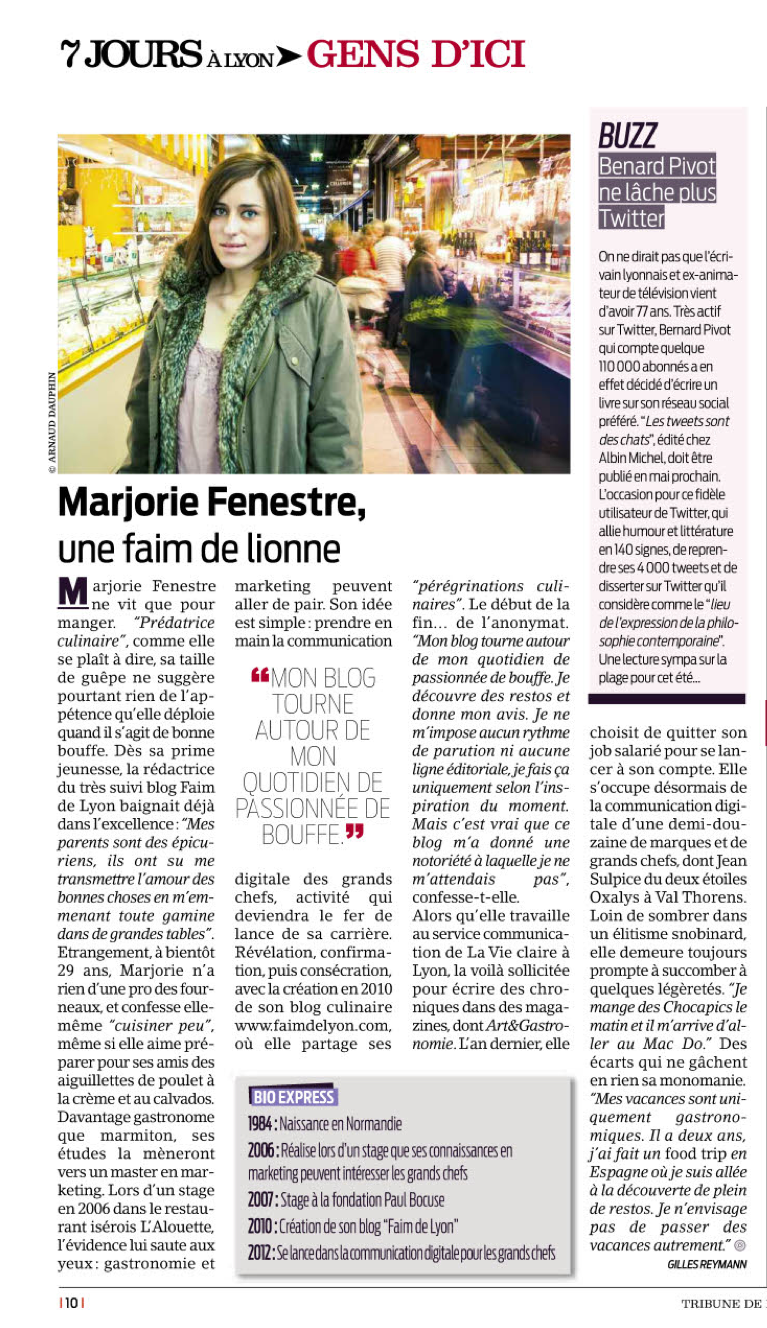 tribune de lyon avril 2013