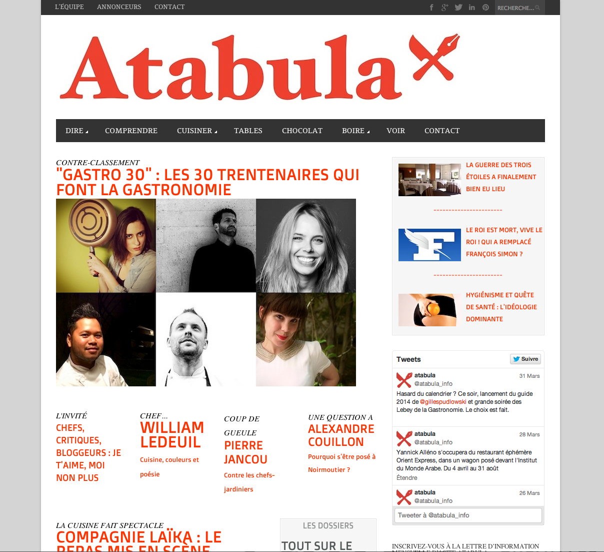 article atabula - 30 trentenaires font gastronomie