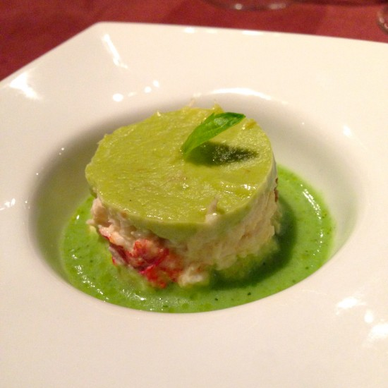 soupe olive guacamole crabe