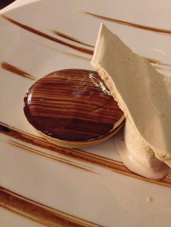 tarte chocolat fumé flocons de sel