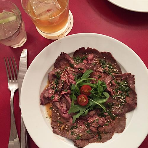 boeuf mariné asiatique restaurant hippolyte lyon