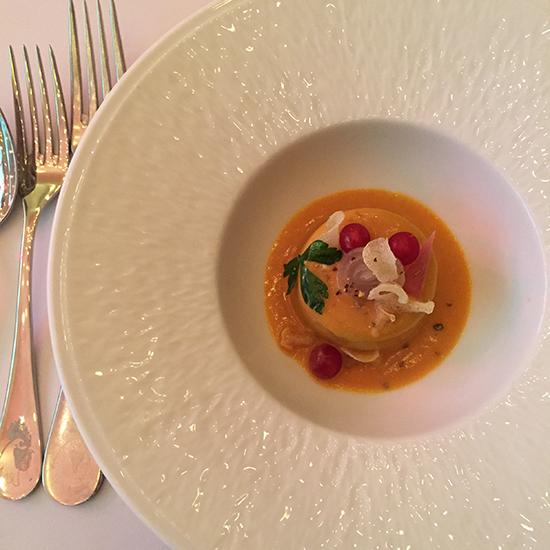 gateau de foie blond restaurant le supreme lyon